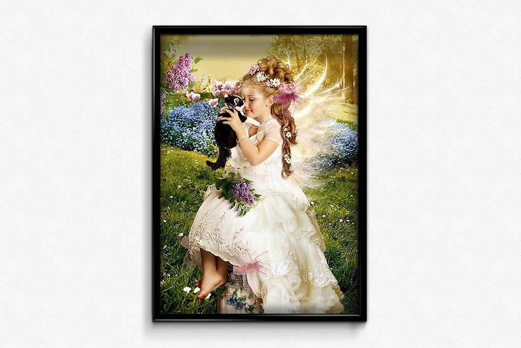 Girl and Kitten DIY Diamond Painting Kit