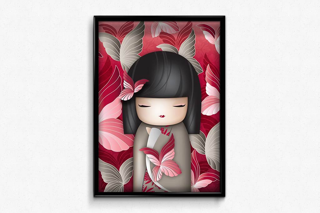 Girl in a Gray Kimono DIY Diamond Painting Kit