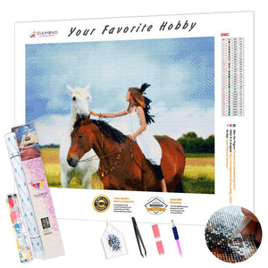 Girl on a Horse DIY Diamond Painting Kit