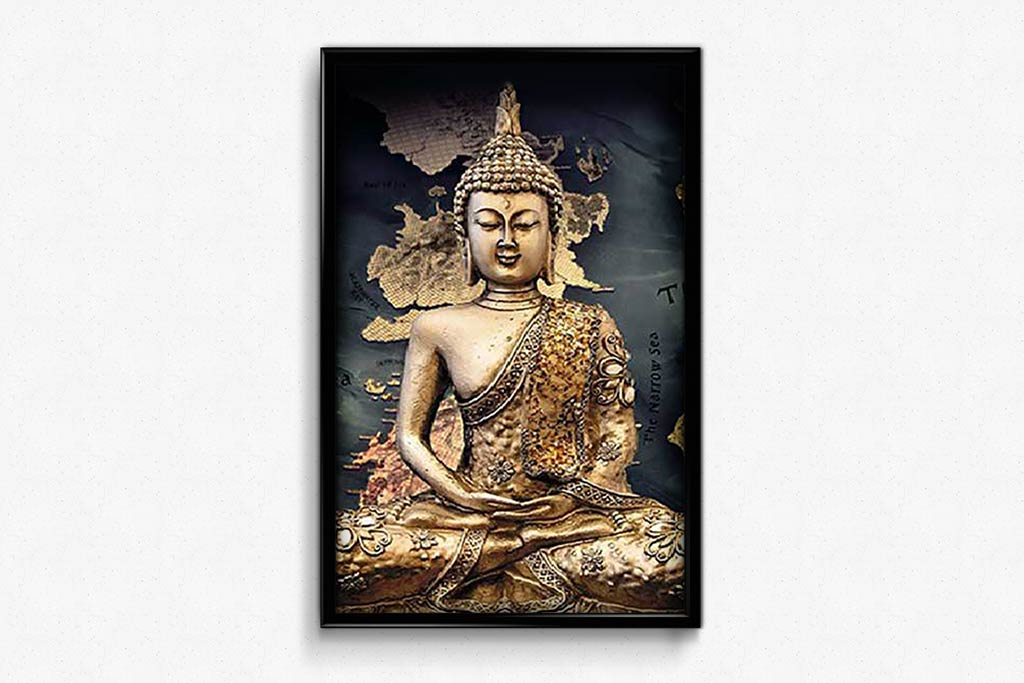 Golden Buddha Statue DIY Diamond Painting Kit