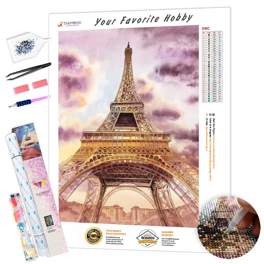 Golden Eiffel Tower DIY Diamond Painting Kit