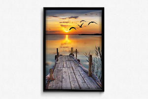 Golden Surface of the Lake DIY Diamond Painting Kit