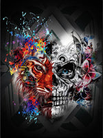 Load image into Gallery viewer, Mystical Fantasy with a Skull DIY Diamond Painting Kit
