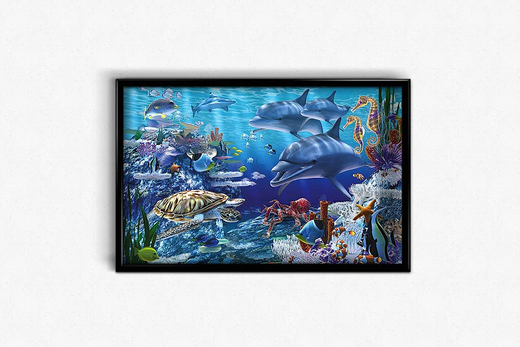 Homeland of Dolphins DIY Diamond Painting Kit