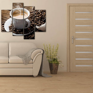 Hot Coffee with Beans сombination 4pcs/set DIY Diamond Painting Kit