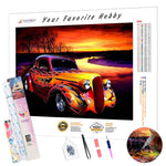 Load image into Gallery viewer, Hot Rod at Sunset DIY Diamond Painting Kit
