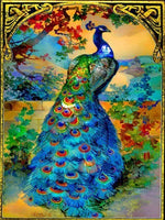 Load image into Gallery viewer, Multi-color Peacock DIY Diamond Painting Kit