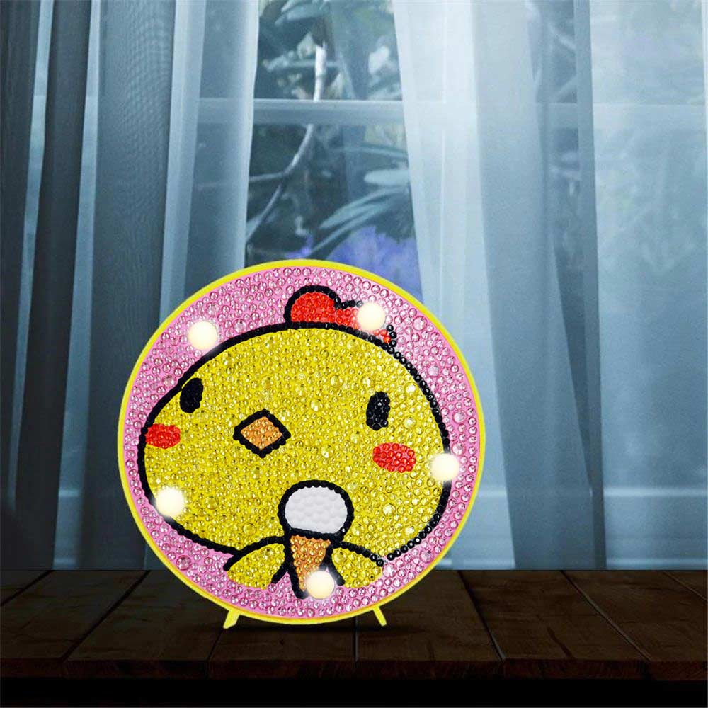 Ice Cream Chicken LED Lamp DIY Diamond Painting
