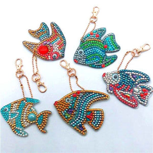 Keychain Decorative Aquarium Fish DIY Diamond Painting