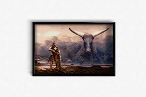 Knight and Longhorn DIY Diamond Painting Kit