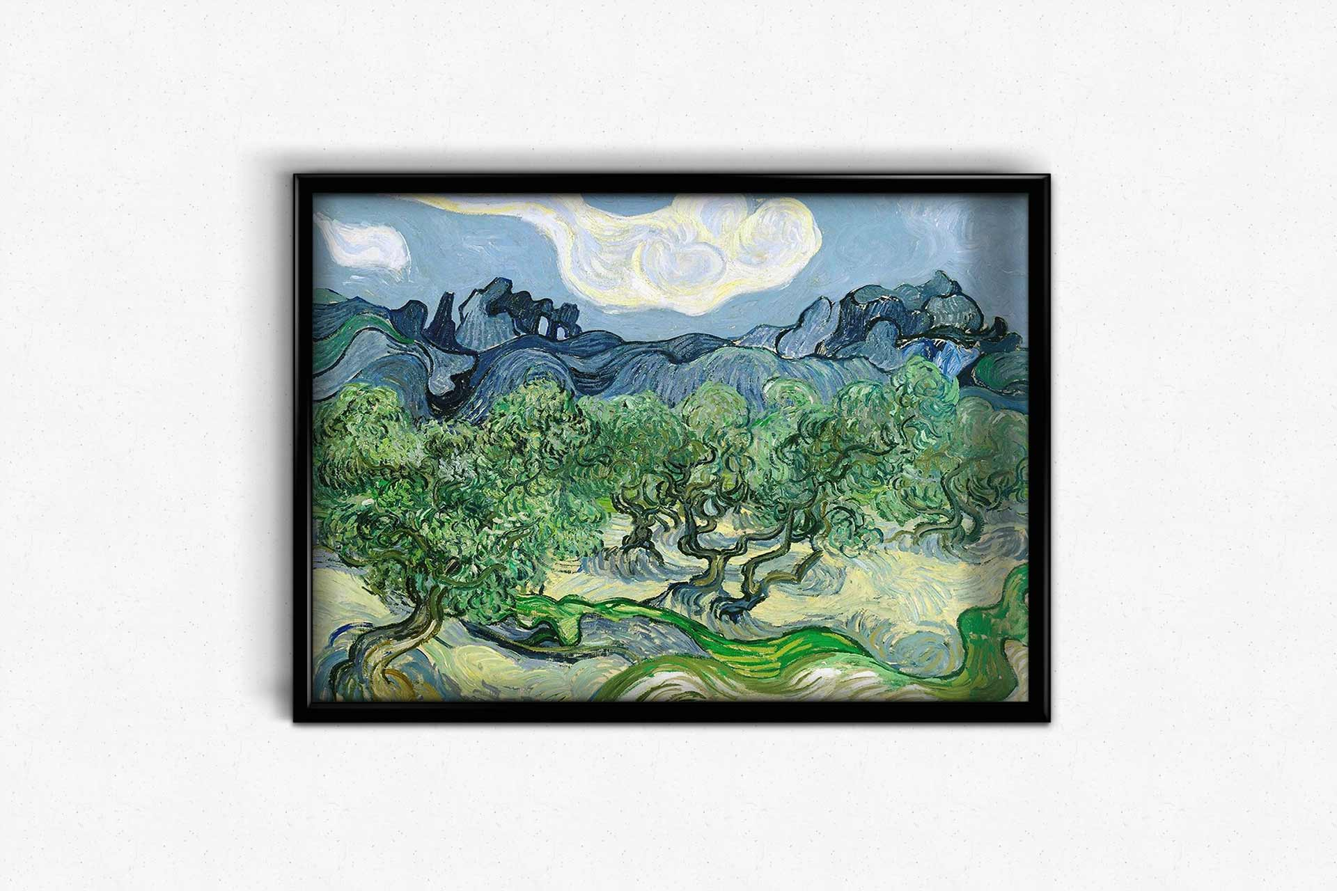 Landscape with Olive Trees by Vincent van Gogh DIY Diamond Painting Kit