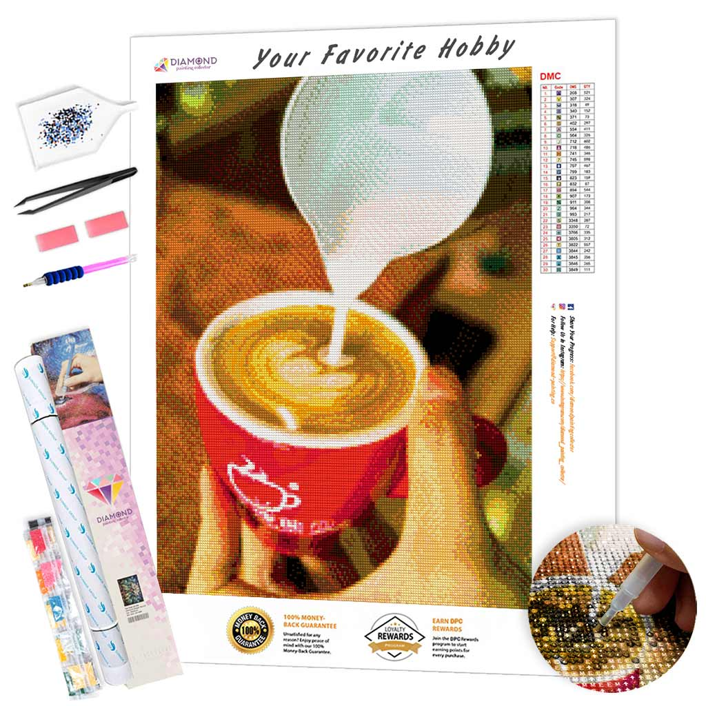 Latte Art DIY Diamond Painting Kit