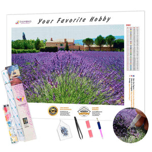 Lavender Field Estate DIY Diamond Painting Kit