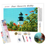 Load image into Gallery viewer, Lighthouse Key West DIY Diamond Painting Kit