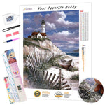 Load image into Gallery viewer, Lighthouse on the Rock DIY Diamond Painting Kit
