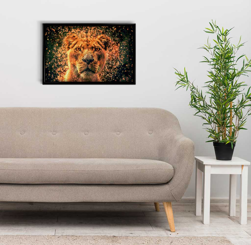 Lioness in Spray DIY Diamond Painting Kit