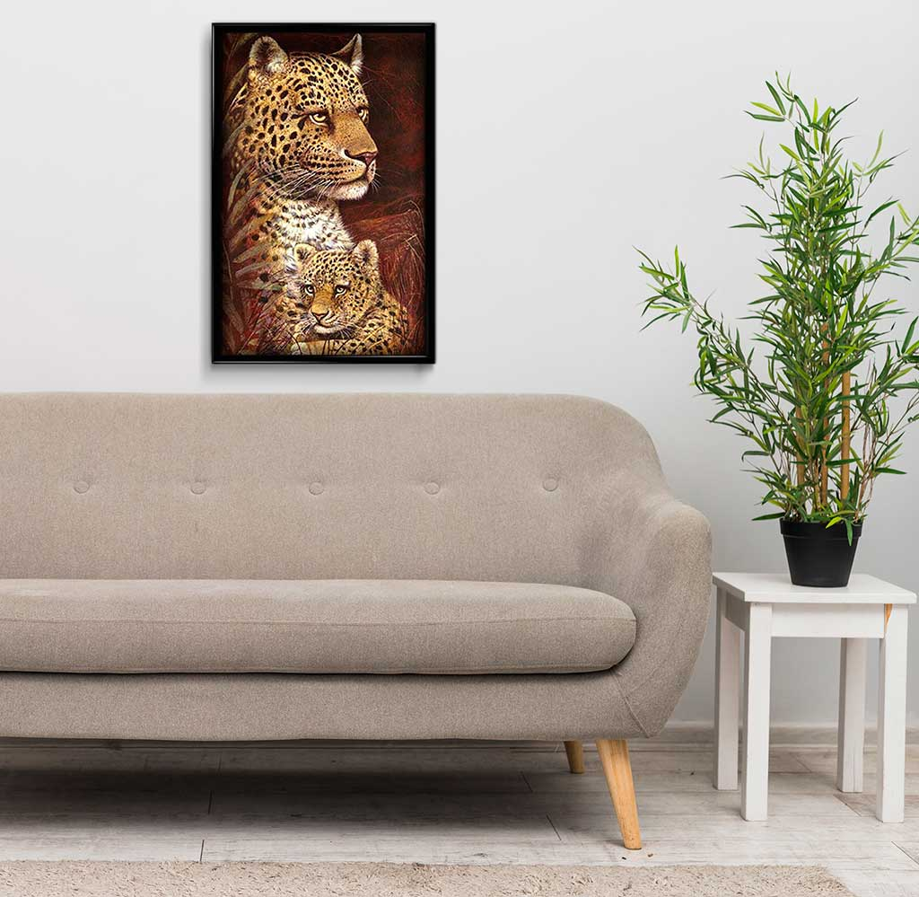 Little Cheetah with Mom DIY Diamond Painting Kit