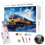 Load image into Gallery viewer, Locomotive under the Moon DIY Diamond Painting Kit