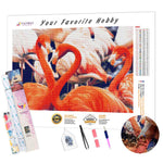 Load image into Gallery viewer, Lovely Flamingos DIY Diamond Painting Kit