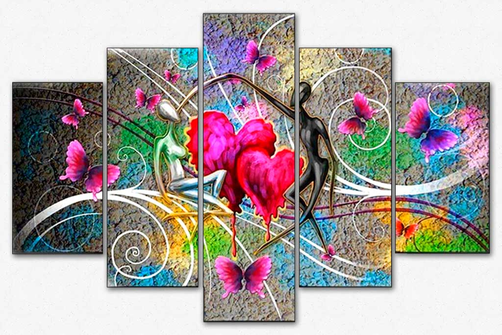 Lovers Hearts 5pcs/set DIY Diamond Painting Kit