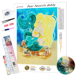 Mermaid on the Ladybug DIY Diamond Painting Kit