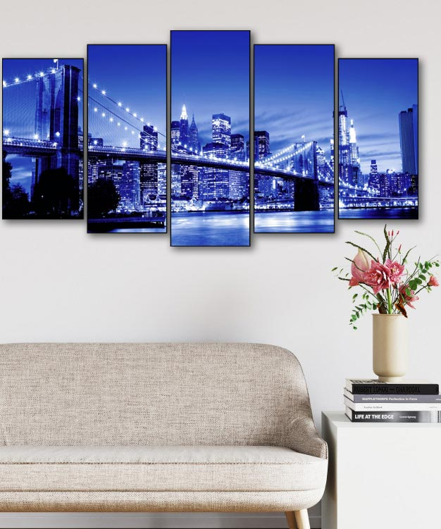 Million Lights Bridge 5pcs/set DIY Diamond Painting Kit