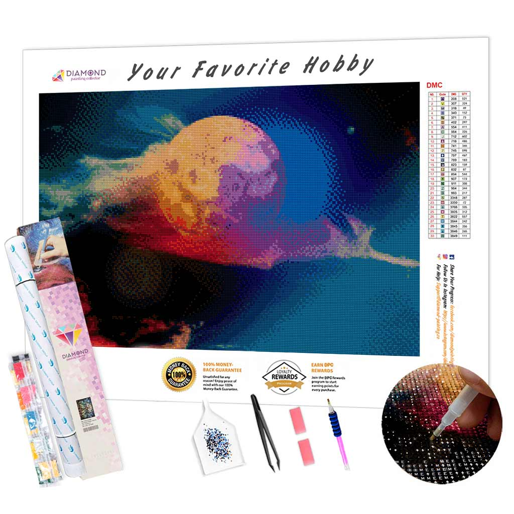 Moon in the Sky DIY Diamond Painting Kit