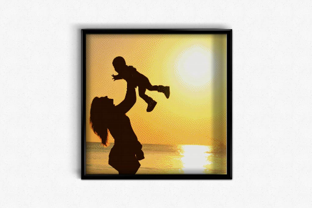 Mother with Baby DIY Diamond Painting Kit