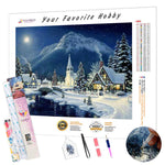 Load image into Gallery viewer, Mountain Christmas Village DIY Diamond Painting Kit- Hidden