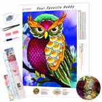 Load image into Gallery viewer, Multi-color Owl DIY Diamond Painting Kit