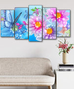 Load image into Gallery viewer, Multi-panel Butterfly on Shining Flowers 5pcs/set DIY Diamond Painting Kit