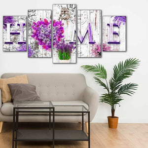 Multi-panel Love Letter at Home 5pcs/set DIY Diamond Painting Kit