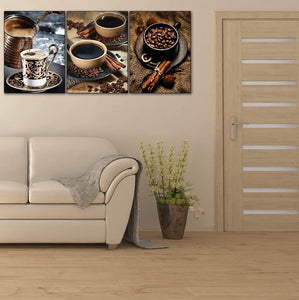 Multi-picture  Coffee Wall 3pcs/set DIY Diamond Painting Kit