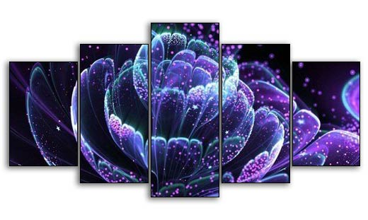 Multi-picture Atomic Petals 5pcs/set DIY Diamond Painting Kit