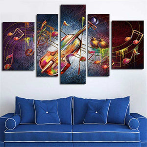 Multi-picture combination Musical Aura 5pcs/set DIY Diamond Painting Kit