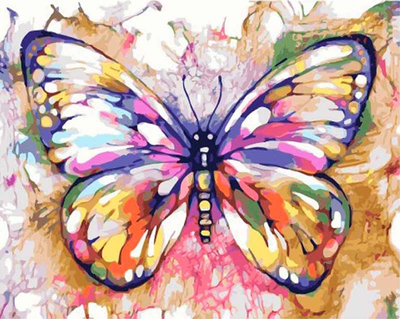 Multicolor Butterfly DIY Diamond Painting Kit