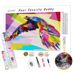 Multicolor Eagle DIY Diamond Painting Kit