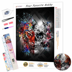 Mystical Fantasy with a Skull DIY Diamond Painting Kit