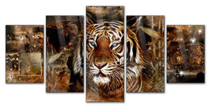 Mystical Tiger сombination 5pcs/set DIY Diamond Painting Kit