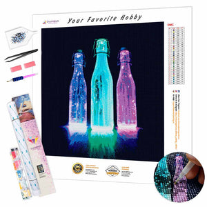 Neon Bottles DIY Diamond Painting Kit