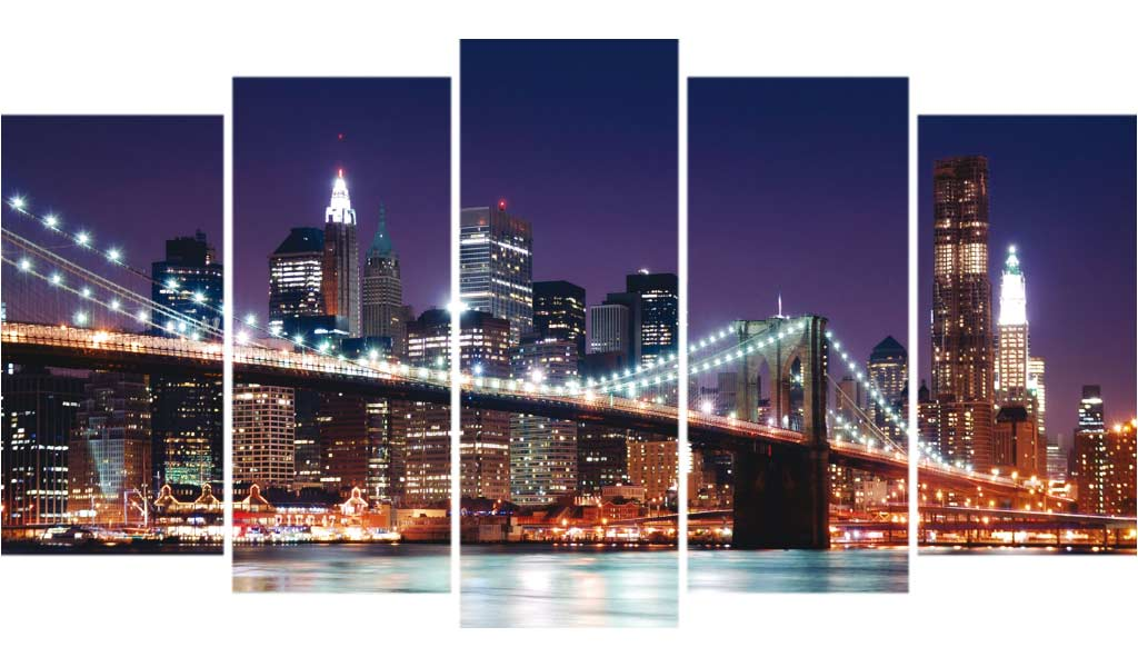 New York Night Lights 5pcs/set DIY Diamond Painting Kit