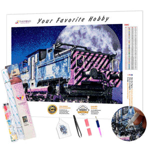 Old Locomotive under the Stars DIY Diamond Painting Kit