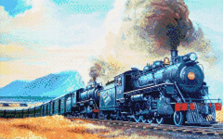 Old Railway DIY Diamond Painting Kit