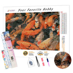 Load image into Gallery viewer, Orange Carp Fish DIY Diamond Painting Kit