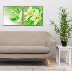 Orchids in Green 2pcs/set DIY Diamond Painting Kit