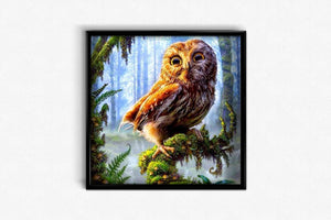Owl in the Forest DIY Diamond Painting Kit