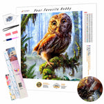 Load image into Gallery viewer, Owl in the Forest DIY Diamond Painting Kit