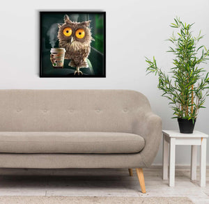 Owl with a Cup of tea DIY Diamond Painting Kit