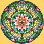 Load image into Gallery viewer, Palm Kaleidoscope Mandala DIY Diamond Painting Kit