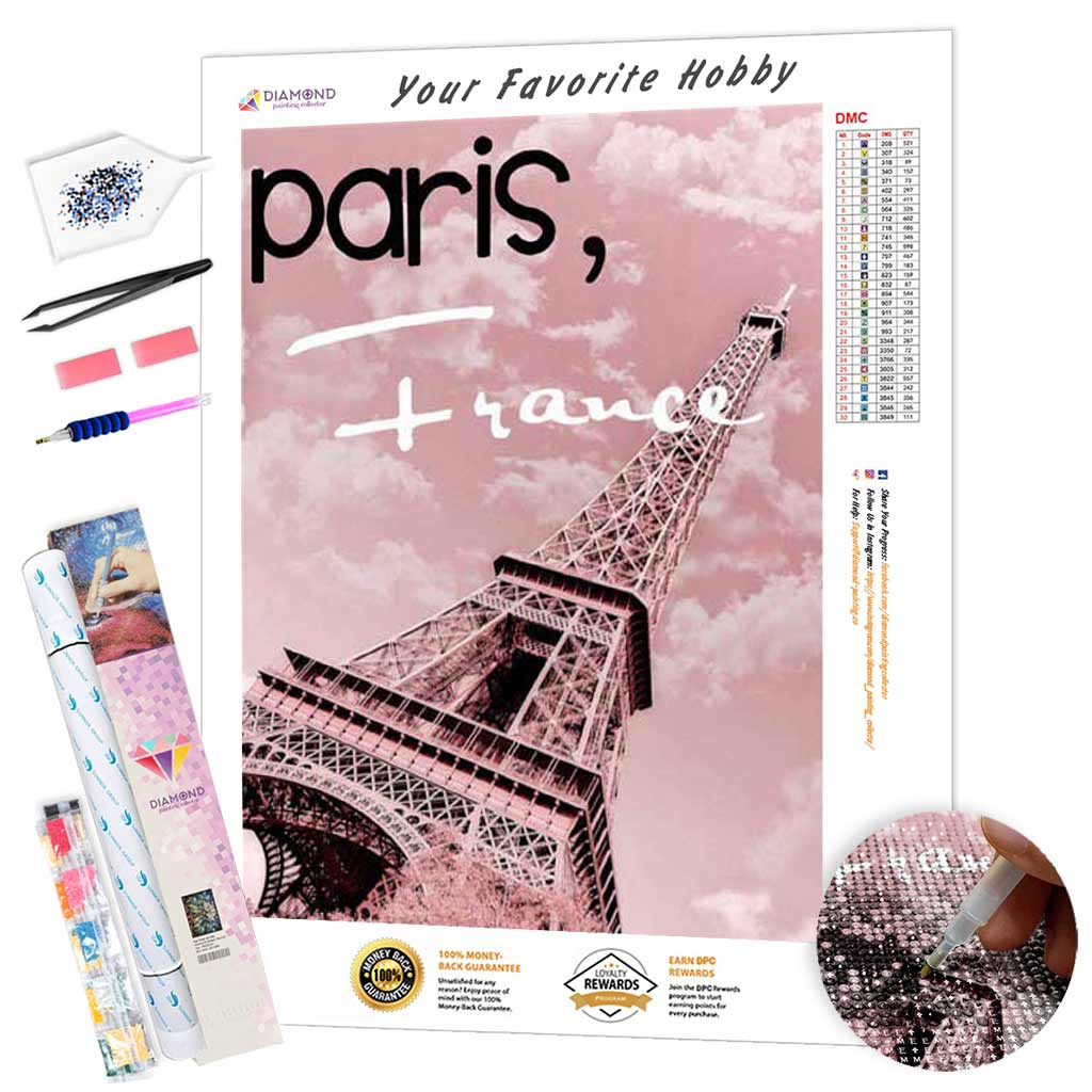 Paris France Tower DIY Diamond Painting Kit